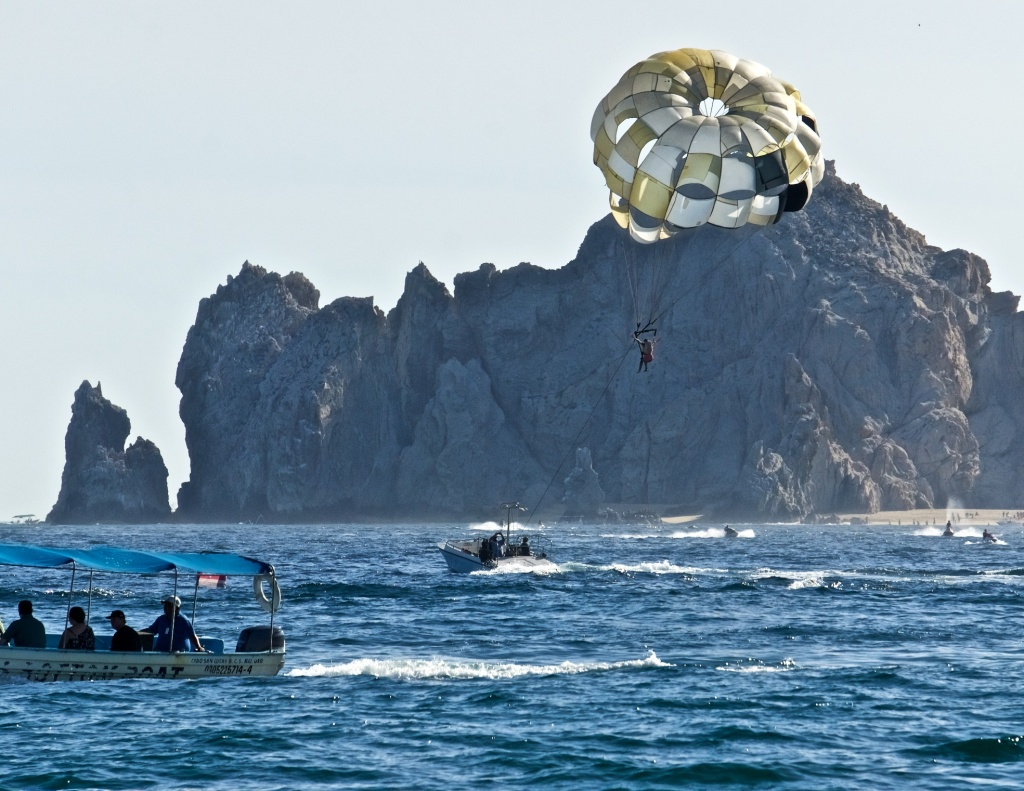 Parasailing on the sea of cortez.