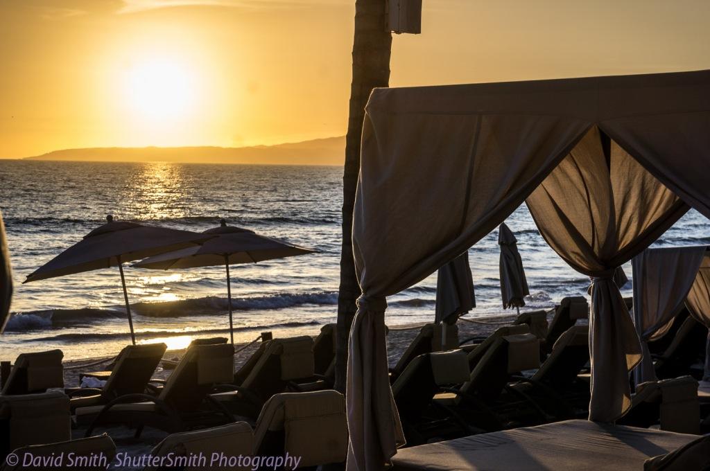 Sunset on the beach in Nuevo Vallarta